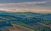 yves-geoffrion - matin de septembre en Toscane